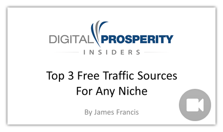 Top 3 Free Traffic Sources For Any Niche
